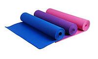 Коврик для йоги и фитнеса 173*61*0,6 см. С чехлом.