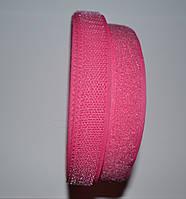 Лента липучка розовая 20 мм липучка для одежды