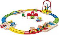 "Набор железной дороги ""Станция и ксилофон"" Hape (E3816)"