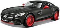 Автомодель Mercedes - AMG GT (1:24) серый металлик - тюнинг (32505 met. grey)