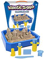 """Набор """"Строим замок мини"""" песочница 2,5кг песка, и формочки  Waba fun (150-190)"""