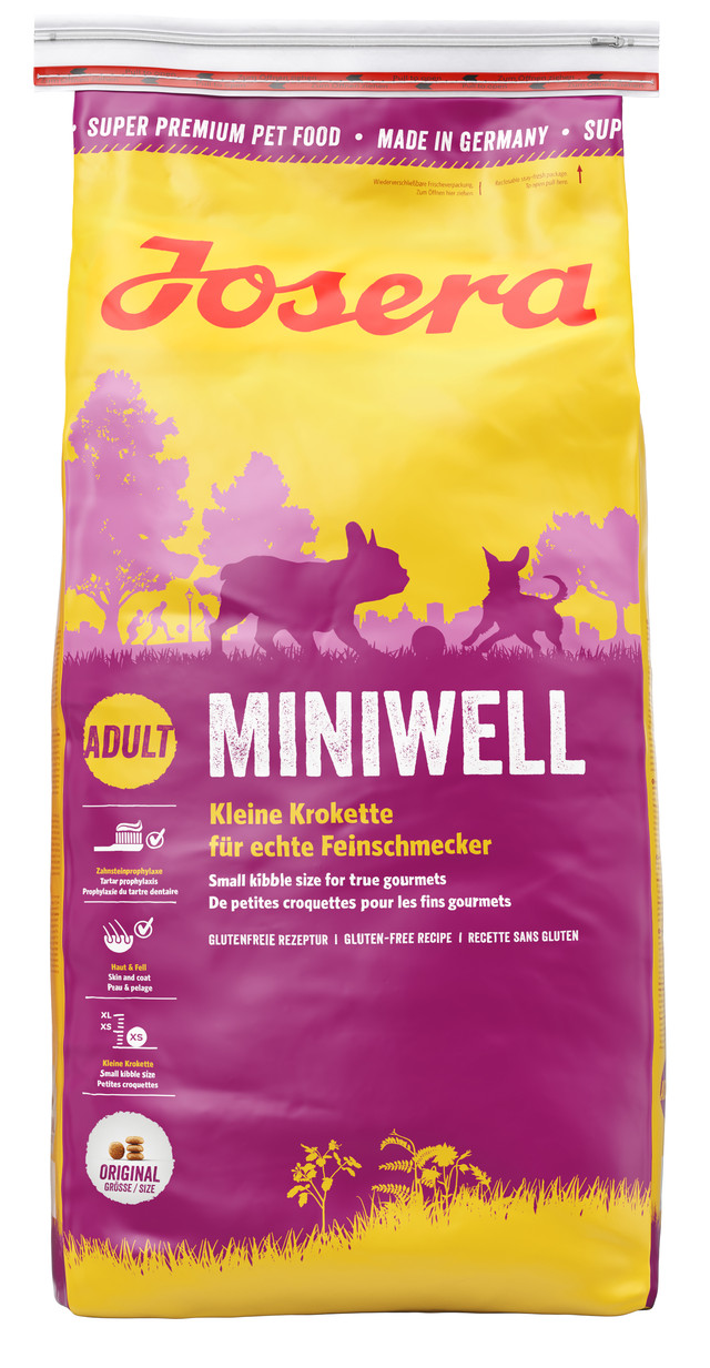 Корм для взрослых собак мелких пород Josera Miniwell