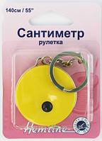 Ролл Рулетка с кольцом для брелка - 140см бежевый,жёлтый,красный,чёрный