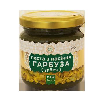 Паста из семян тыквы(урбеч) 200 г, Ecoliya