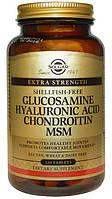 Солгар, Solgar, Глюкозамин, гиалуроновая кислота, хондроитин и МСМ, 120 таблеток