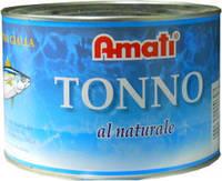 AMATI Tonno al naturale - Тунец в собственном соку, 1700g