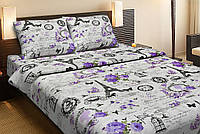 Красивое хлопковое односпальное постельное белье Lotus LOUVRE лиловый LT12
