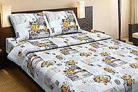 Красивое хлопковое односпальное постельное белье Lotus LOVE LETTER кофейный LT12