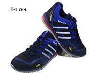 Кроссовки  синие натуральная кожа на шнуровке (Т-1)