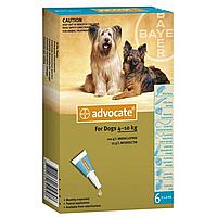 Bayer Адвокат® Спот-он Капли от блох для собак от 4 до 10 кг