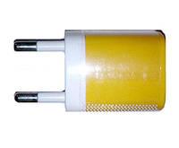СЗУ 220В - USB 1 USB NOKOKO-2 1000 mAh (бело-желтый)