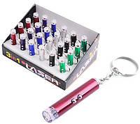 Фонарь брелок 9620-Led ультрафиолет лазер