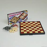 Шахматы 9831 3 в 1 в средней коробке
