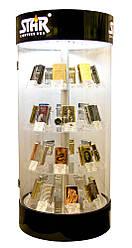 ПОД ЗАЛОГ Стенд для зажигалок вращающийся с подсветкой (на 32 зажигалки)(62,5х28,75х28,75 см)