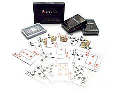 Карты игральные пластиковые (POKER CLUB)(9,2х6,5х2 см)(12шт/уп)