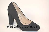 Туфли женские замшевые черные