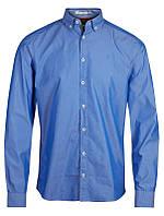 Мужская рубашка голубая Fullham Stripe от Tailored & Originals (Дания) в размере M