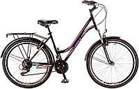 """Велосипед 26"""" Formula OMEGA AM 14G Vbr рама-18"""" St черно-фиолетовый с багажником зад St, с крылом St 2017"""