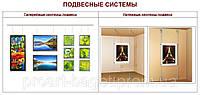 Методы подвески картин и фотографий (в квартирах, офисах, галереях, ТЦ, мебельных салонах)