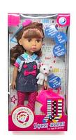 Кукла 32см с собачкой и  аксессуарами 1401S