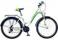"""Велосипед 26"""" Formula OMEGA AM 14G Vbr рама-18"""" St серый с бирюзовым с багажником зад St, с крылом St 2017"""
