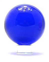 Шар хрустальный на подставке синий (d-11 см)