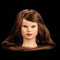 Учебный манекен для причесок  90% натуральных волос, 50-55 см, шатен
