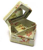 """Шкатулка """"Бриллиант""""  ткань (11х11,5х5 см)"""