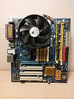 Материнская плата GIGABITE GA-945GZM-S2 +процессор+память