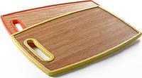 Разделочная доска Maestro 37х23 бамбук (зеленая, красная, оранжевая, желтая)