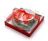 "Чашка+блюдце фарфор (150мл)(SBS127) ""Китаянка зеленый"" (h-4,5см,d-9,5см d блюдца-13см)"
