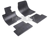 Резиновые коврики AUDI A6 с 2010, цвет:черный
