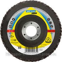 Лепестковый торцевой круг Klingspor SMT 324 Extra (P40/60/80), 125*22