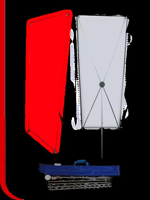 Продажа мобильных стендов Х баннер паук