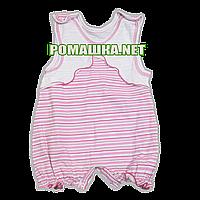Песочник-майка р. 68 ткань КУЛИР 100% хлопок  ТМ Малыш 3401 Розовый