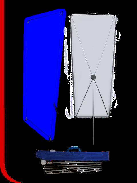 Мобильный стенд Х баннер паук с печатью рекламы