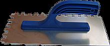 Гладилка нержавеющая 130 х 270 мм, зуб  6 х 6 мм