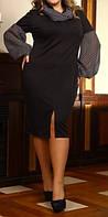 """ПП Украина Стильное платье большого размера """"Маркиза"""", платье до 72 размера"""