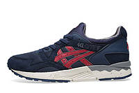 "Asics  Gel Lyte V ""Vegan"" (blue-red), фото 1"