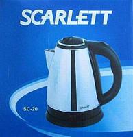 Электрический чайник дисковый Scarlett Sc-20, 2000Вт