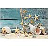 """Картина для рисования камнями Diamond painting Алмазная вышивка """"Морские ракушки и звезды"""""""