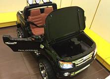 Детский электромобиль джип FORD RANGER F-150, двухместный, черный, фото 3