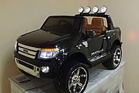 Детский электромобиль джип FORD RANGER F-150, двухместный, черный