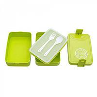 Ланч-бокс двухярусный зеленый  (BOX-006.GREEN, ISHOWTIENDA TODAY'S MENU