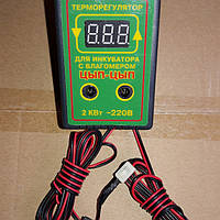 Терморегулятор  для инкубатора цифровой с датчиком влажности