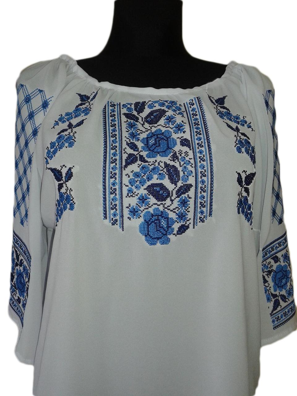 """Жіноча вишита сорочка (блузка) """"Мейкірон"""" (Женская вышитая рубашка (блузка) """"Мейкирон"""") BU-0011"""
