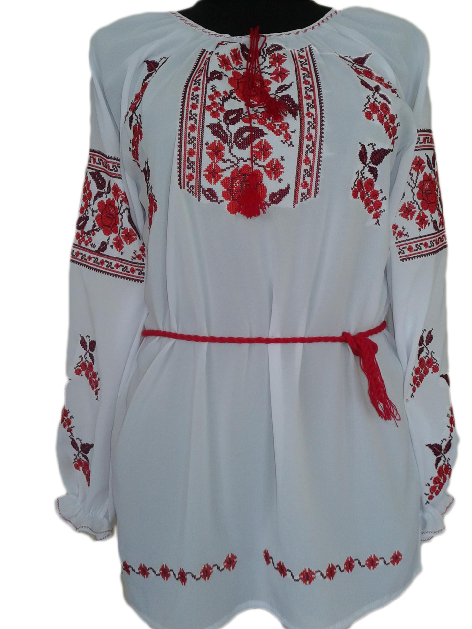 """Женская вышитая рубашка """"Нодли"""" BU-0012"""