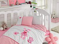 Постельное белье Cotton Box для новорожденных с вышивкой Minik Tavsan