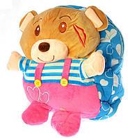 """Детский рюкзак игрушка """"Мишка"""" розовые штаны 0416"""