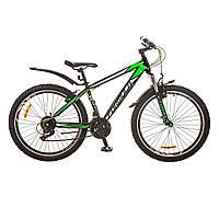 """Велосипед 26"""" Formula NEVADA AM 14G  Vbr  рама-16"""" St черно-зеленый   с крылом Pl 2017"""